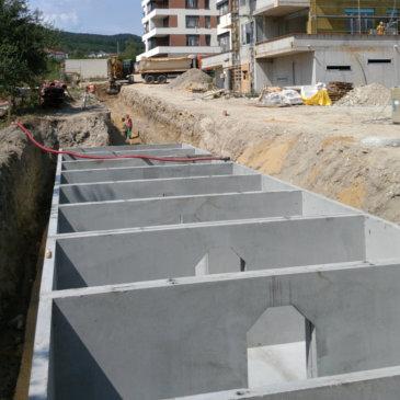 Retenční nádrž s kapacitou 140 m3